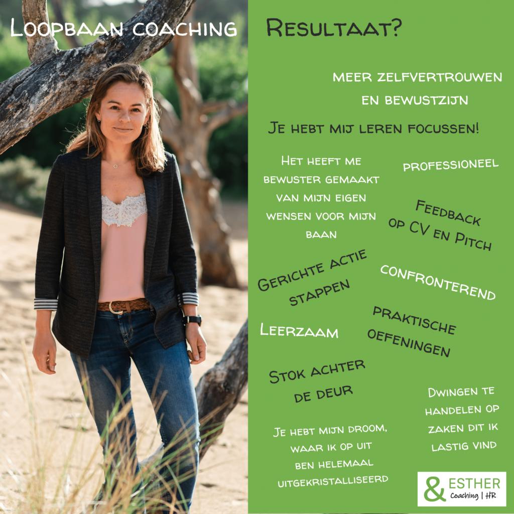 Resultaat Loopbaan Coaching Ontwikkeladvies &ESTHER